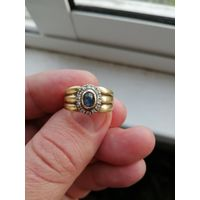 Кольцо сапфир с брилиантами
