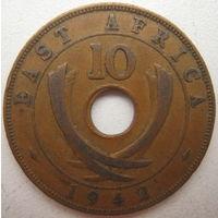 Восточная Африка 10 центов 1942 г. (d)