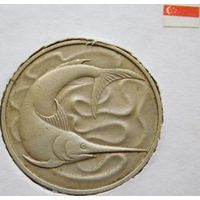 Сингапур 20 центов 1974 год