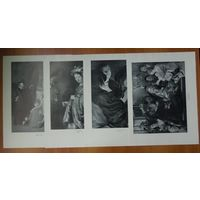 Литография двухсторонняя, 1959, 4 шт.