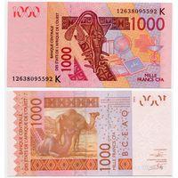 Западная Африка (Сенегал) 1000 франков (образца 2003(12) года, P715Kj, UNC)