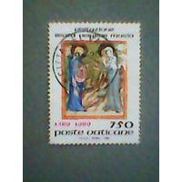 Ватикан. 1989г. ;гашеная