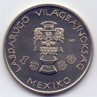 Венгрия, 100 форинтов 1985 года. Футбол, ЧМ 1986 года в Мехико.
