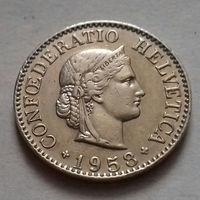 10 раппен, Швейцария 1958 г., AU