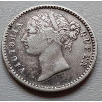 Индия 1/4 рупии 1840 г.