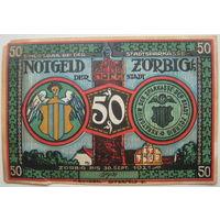 Нотгельд 50 пфеннигов 1921 г. Цёрбиг (Zorbig). Германия