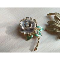 Винтажная брошка 1997 R J Graziano принцесса Диана цветок со слезой