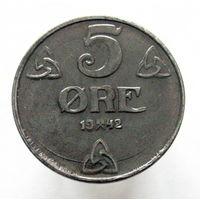 Норвегия 5 эре 1942 оккупация (2-126)