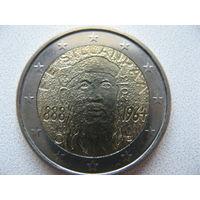 Финляндия 2 евро 2013г. 125 лет со дня рождения Франса Эмиля Силланпяя. (юбилейная) UNC!