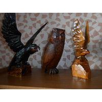 Большие статуэтки из дерева