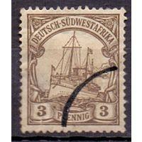 Германия Юго-Западная Африка 0Wz 3 пф ГАШ? 1901 г