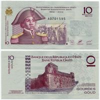 Гаити. 10 гурдов (образца 2004 года, выпуск 2004, P272a, UNC)
