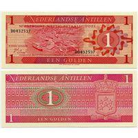 Нидерландские Антилы. 1 гульден (образца 1970 года, P20, UNC)