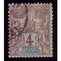 1 марка 1892 год Сенегал 10 2