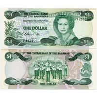 Багамы. 1 доллар (образца 1984 года, P43a, aUNC)