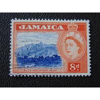 Английская Ямайка 1956 г. королева Елизавета II. Флора.