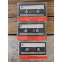 3 кассеты TDK б/у, с записями