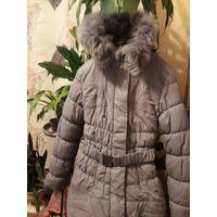 Пальто зимнее для девочки, размер 44-46.
