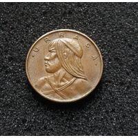 Панама, 1 сентесимо 1966, вождь индейского племени гуайми Уррака