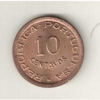 Ангола 10 сентаво 1949 300 лет революции 1648 года