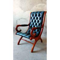 Английское кожаное кресло Честерфилд