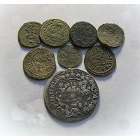 Кучка монет РП ( чёткий солид Бирона, шестак, денарии...)