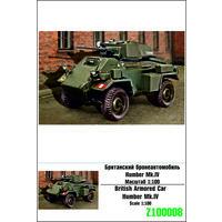 """""""ZEBRANO"""" Z100008. Британский бронеавтомобиль Humber Mk. IV. Масштаб 1:100"""