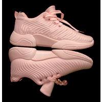 Модные женские розовые кроссовки на наш 38р., абсолютно новые, очень удобные, с ортопедическими стельками, длина стельки 25см