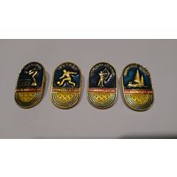 Значки Олимпиада-80 4 шт., цена за все #z24