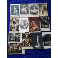 Набор почтовых карточек по искусству 13шт одним лотом