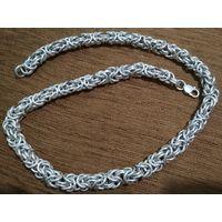 Шикарная цепь КОРОЛЕВСКОЕ ПЛЕТЕНИЕ  вес 286 грамм , длина 61 см, диаметр 12 мм