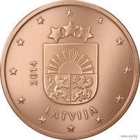 2 евроцента, Латвия 2014 г., AU