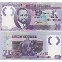 Мозамбик 20 метикал образца 2017 года UNC