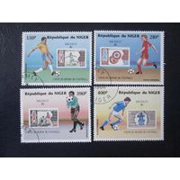 ЩЧМ по футболу в Мексике 1986 (Нигер) 4 марки ПОЛНАЯ СЕРИЯ