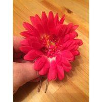 Очаровательная заколка цветок на шпильке, диаметр 10 см.