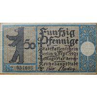 Нотгельд 50pf 1921г. Берлин #10