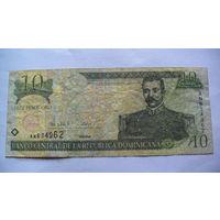 Доминиканская республика, доминикана 10 песо оро 2000г. 634962 распродажа
