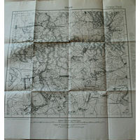 Оригинальная 250м немецкая карта по ПМВ Дарово(Ляховичский р-н Брестской обл.) 1915г