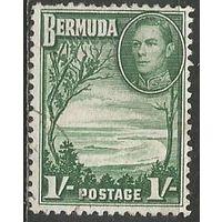 Бермуды. Король Георг VI. Подковообразная бухта. 1938г. Mi#110.
