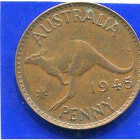 Австралия 1 пенни 1945, Georg VI