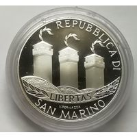 Сан-Марино 5 евро 2002 г