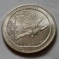 25 центов, квотер США, лес Кисатчи (штат Луизиана), P D