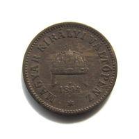 2 геллера 1894 Венгрия