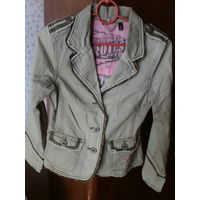 Класный пиджак с рисунком,хб, 38-40 р,под джинс.