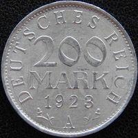 YS: Германия, Веймарская республика, 200 марок 1923A, KM# 35 (1)