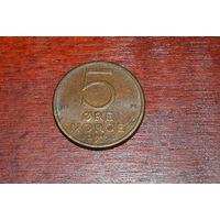 5 эре 1980 Норвегия КМ# 415 бронза