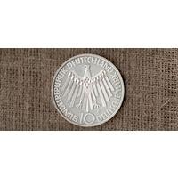 Германия 10 марок 1972 F /олимпиада/Серебро///Н /