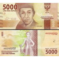 Индонезии 5000 рупий  2017 год  UNC  (новинка)