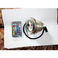Светодиодный прожектор RGB 10 Вт. 12В, влагонепроницаемый.