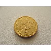 """Мозамбик. 20 сентаво 2006 год  KM#135  """"Цветок"""""""